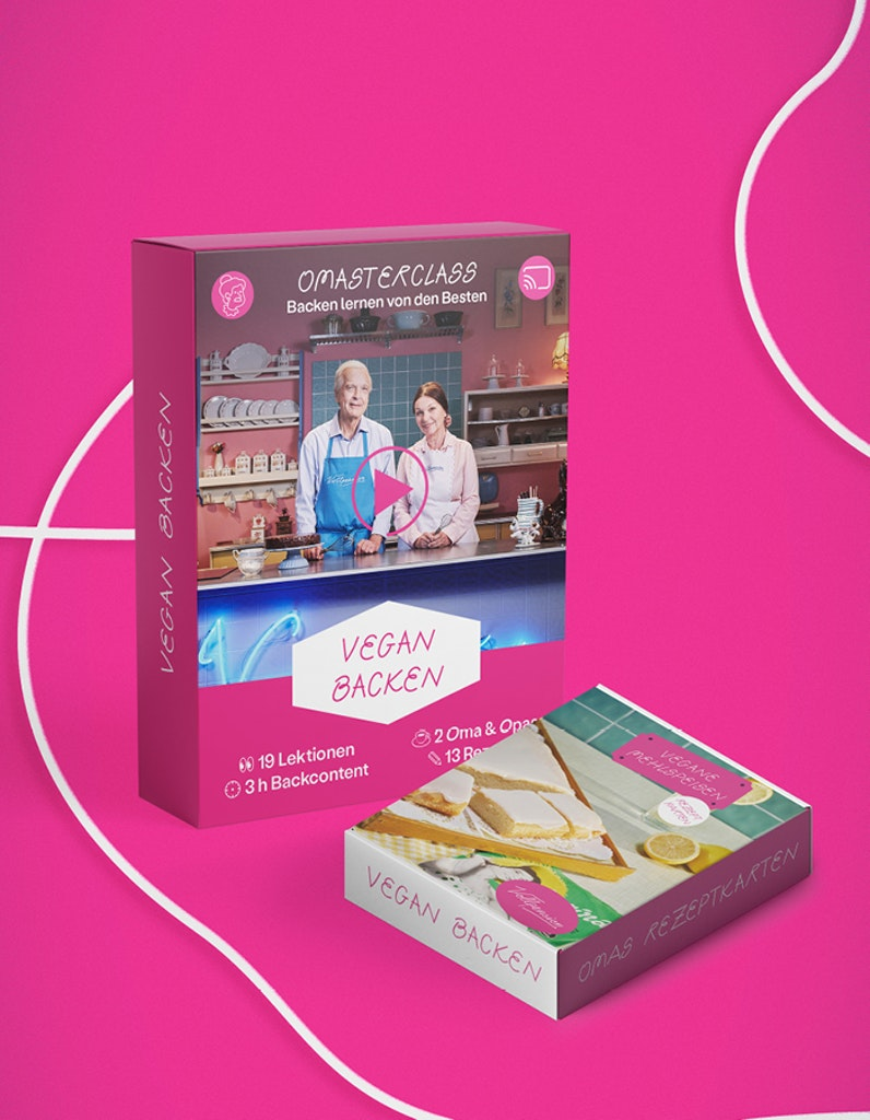 Bundle: Vegan backen (OMAsterclass + Rezeptkartenbox)