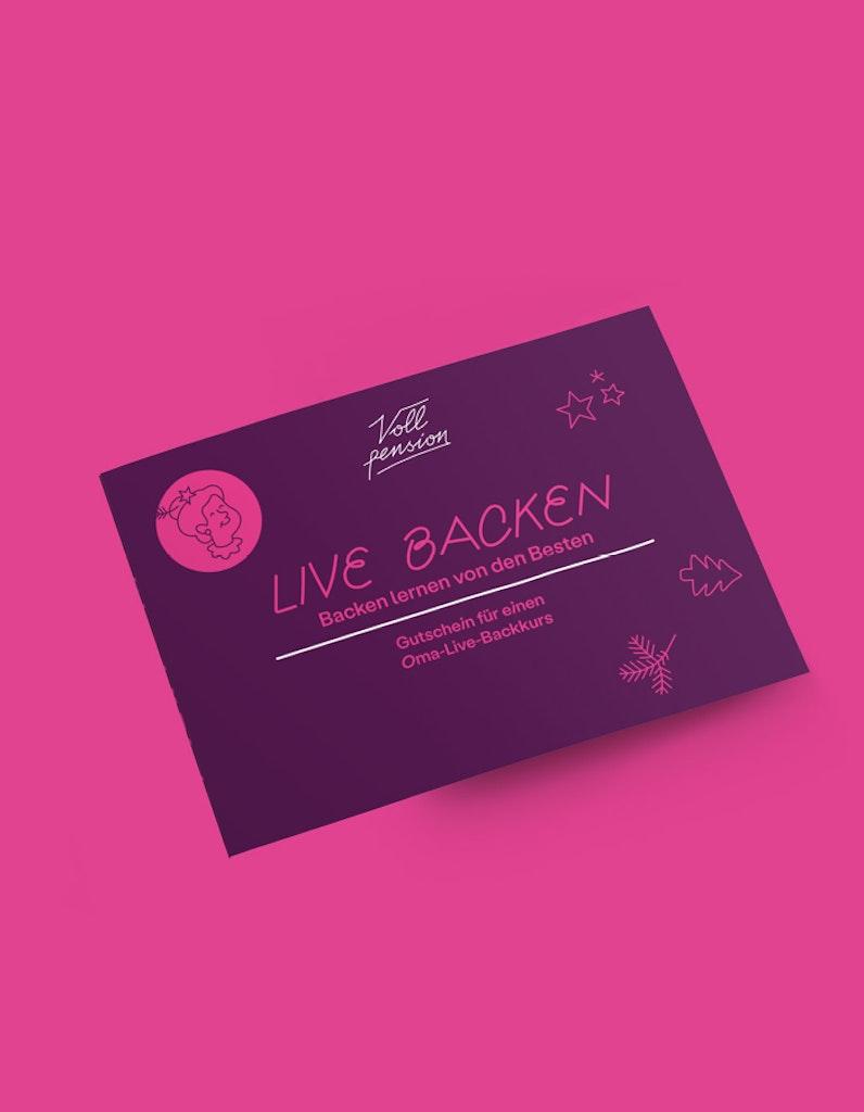 Gutschein Oma-Live-Backkurs Xmas