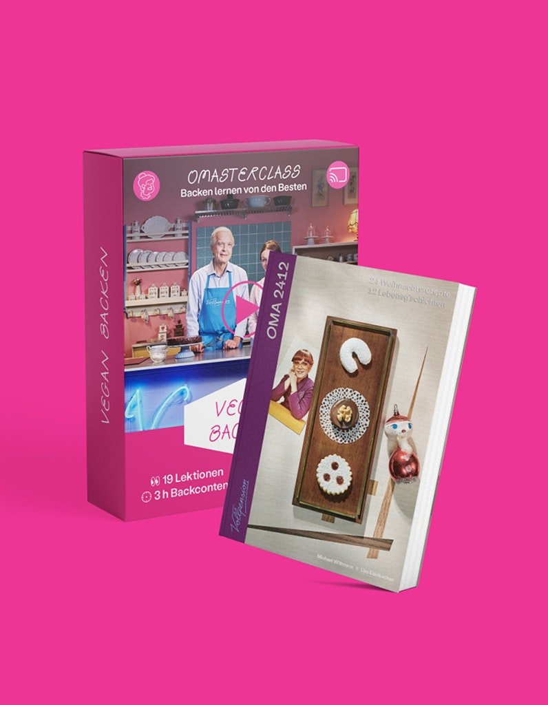 "Bundle: OMAsterclass ""vegan backen"" und OMA2412-Backbuch"