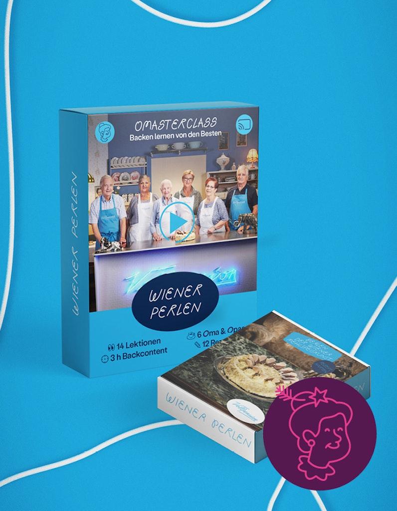 Bundle: Perlen der Wiener Mehlspeiskunst (OMAsterclass + Rezeptkartenbox)