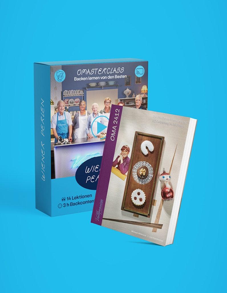 """Bundle: OMAsterclass """"Perlen der Wiener Mehlspeiskunst"""" und OMA2412-Backbuch"""