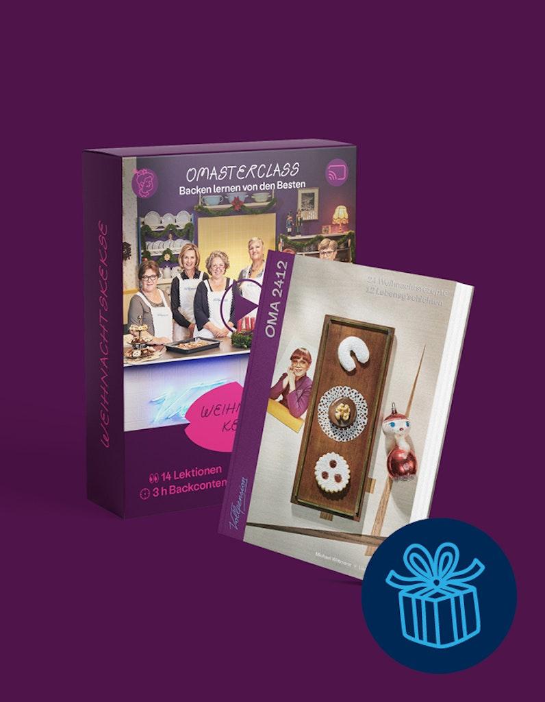 """Geschenkbundle: OMAsterclass """"Weihnachtskeks"""" und OMA2412-Backbuch"""